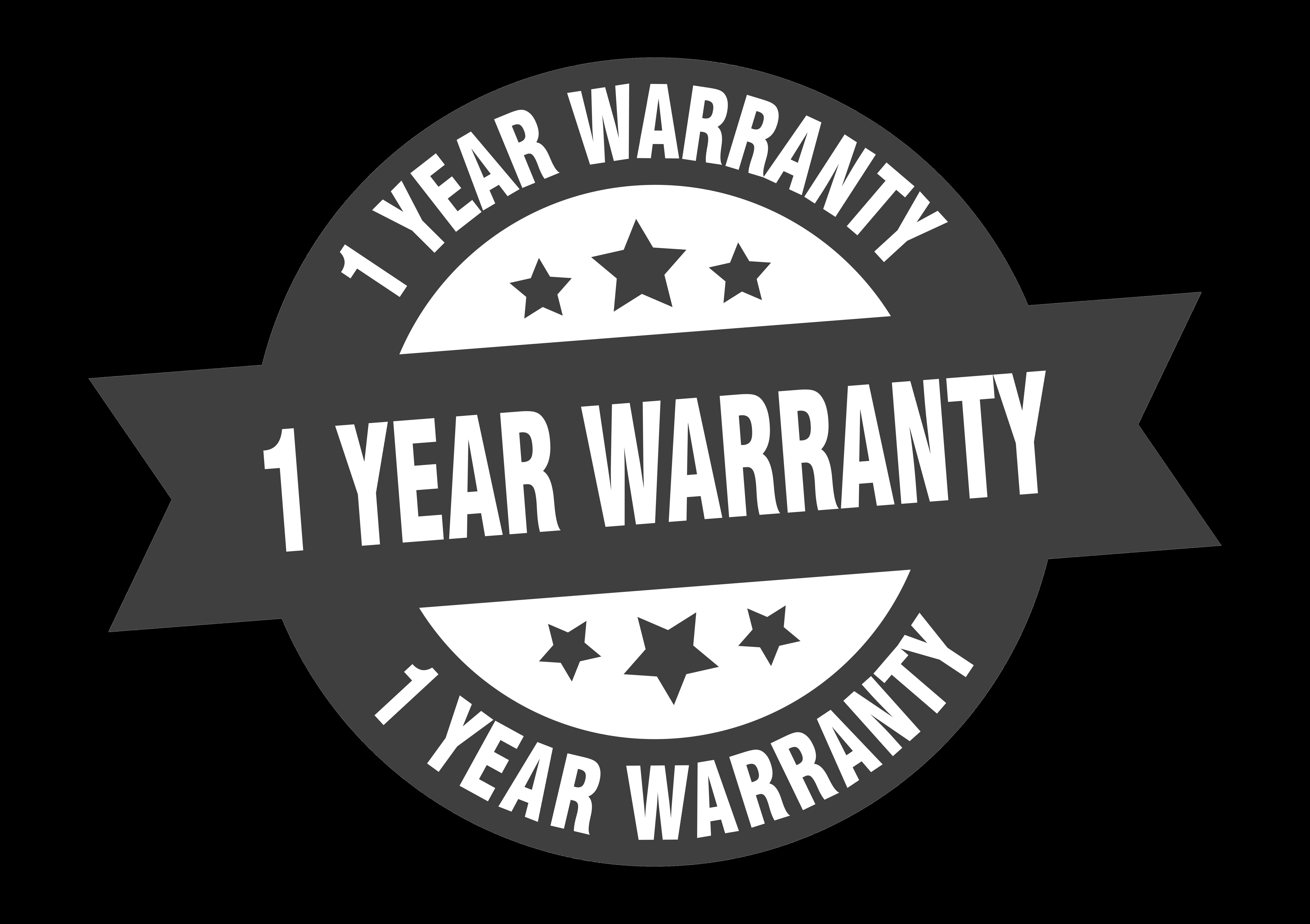1 Year Warranty On All Work